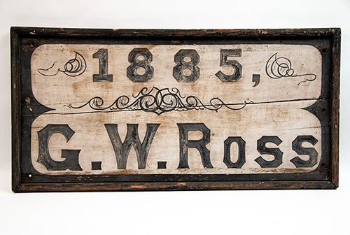1885 GW Ross Machine and Repair Shops Wooden Trade Sign McKean County PA For Sale From Z and K Antiques