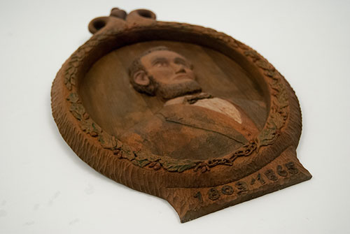 Antique Lincoln Carved Bust Plaque Patriotic Historical Americana Abe Abraham Memorialbila For Sale