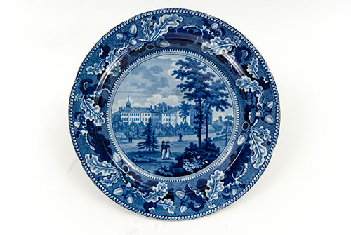 Harvard College American Scene Historical Staffordshire Stevenson Williams