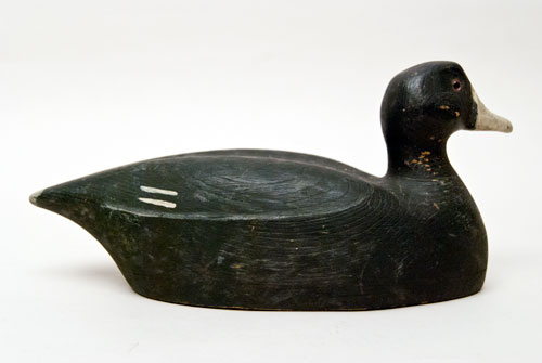 Illinois River Duck Decoy For Sale Folk Art Illinois River Coot Decoy For Sale