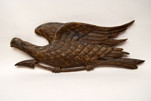 Antique American Patriotic Folk Art War Eagle Carving For Sale