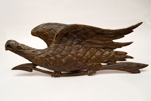 Antique American Patriotic Folk Art Eagle Carving For Sale