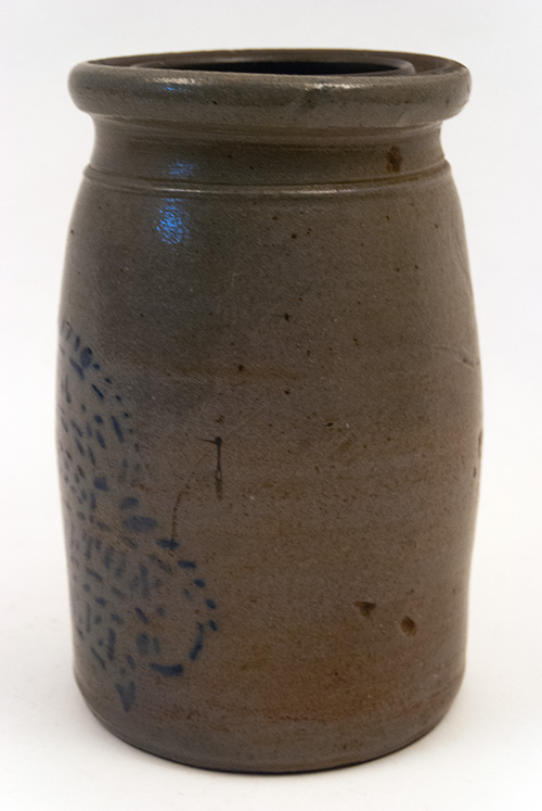 West Virginia Antiques Blue Decorated Richey Hamilton Palatine Stoneware Jar