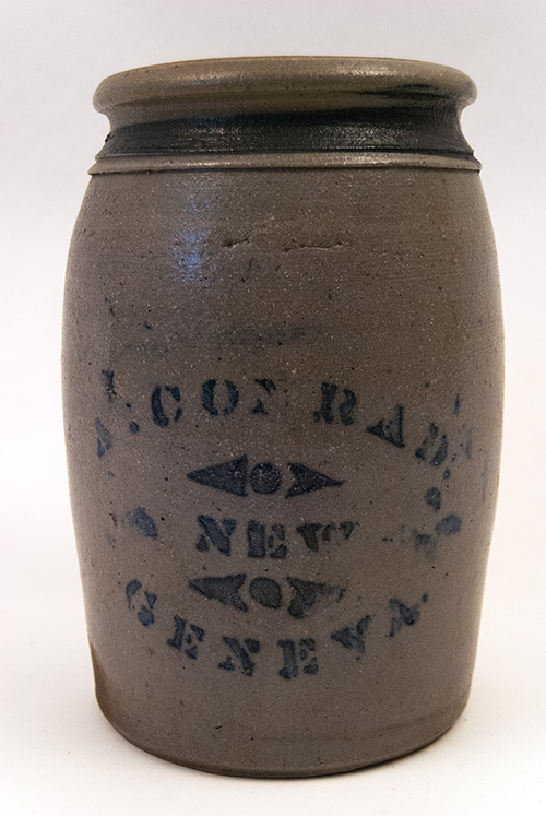 A. Conrad New Geneva PA Antique Blue Decorated Stoneware