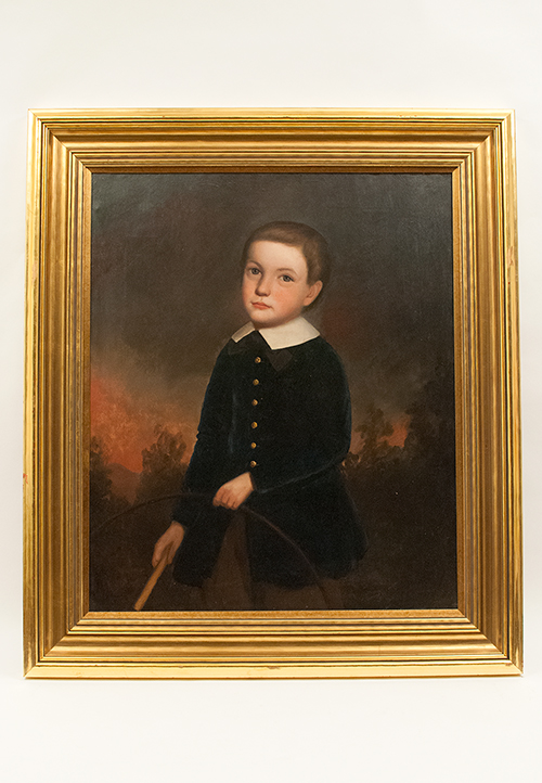 1840 Turner Point Androscoggin County Maine Folk Art Oil on Canvas Portrait of P Record