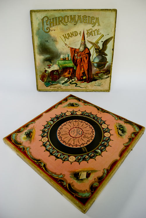 Antique Game: Early American Chiromagica: Hand of Fate: McLoughlin Bros. New York: Vintage Game for Sale
