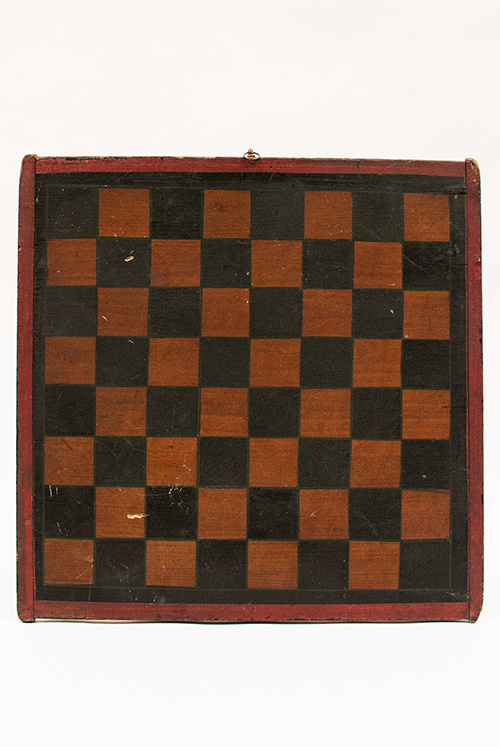 Double Sided Parcheesi and Checkers Antique Game Board