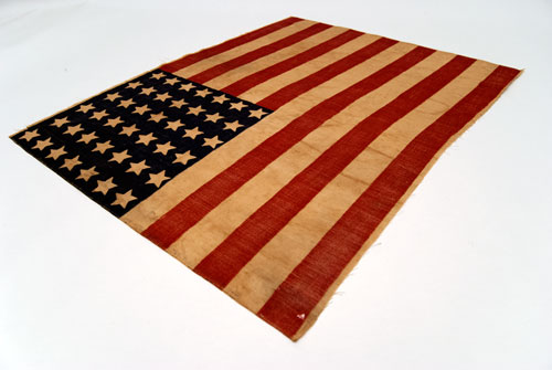 1890 Unofficial 42 Star Parade Flag Patriotic Americana