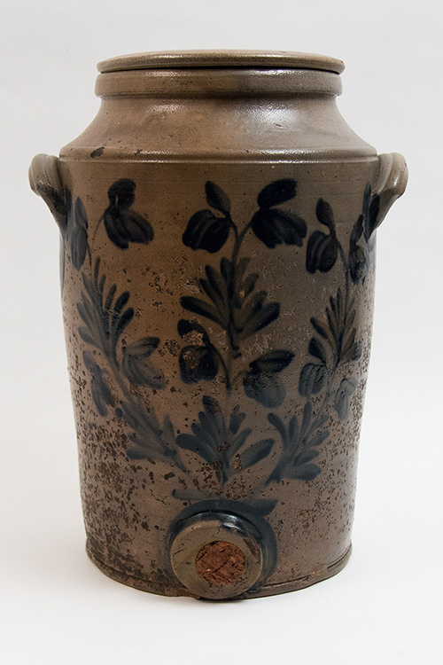 Antique Blue Decorated Stoneware Water Cooler Salt Glazed Pennsylvania Stoneware Crocks for Sale