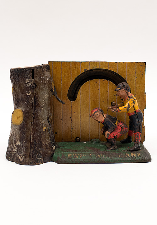19th Century Antique Mechanical Bank Leap Frog