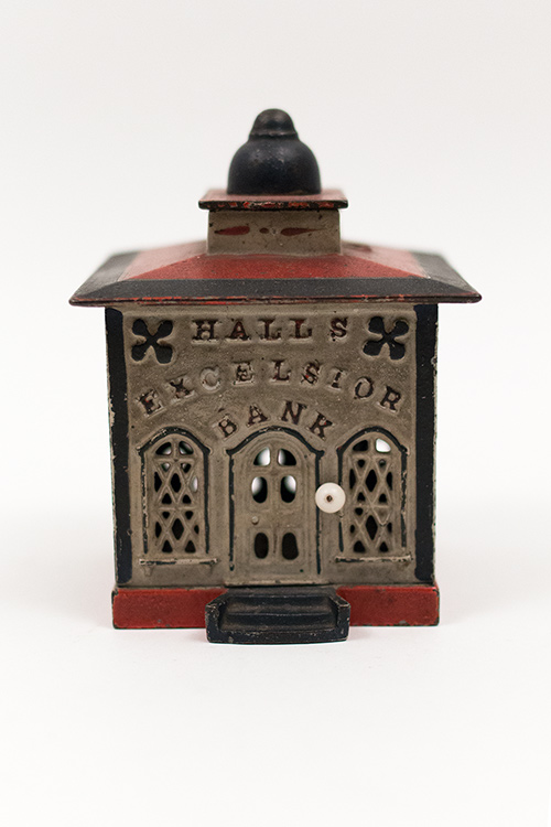 Halls Excelsior Antique Cast Iron Mechanical Bank