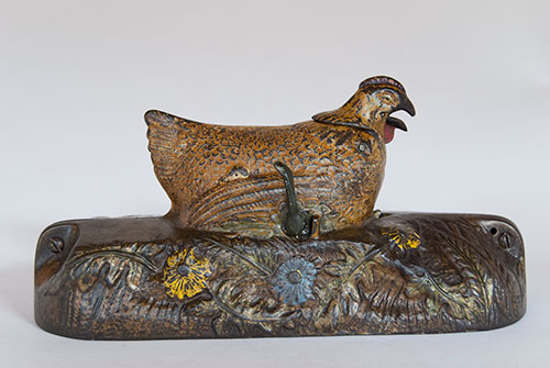 Hen and Chick Mechanical Bank