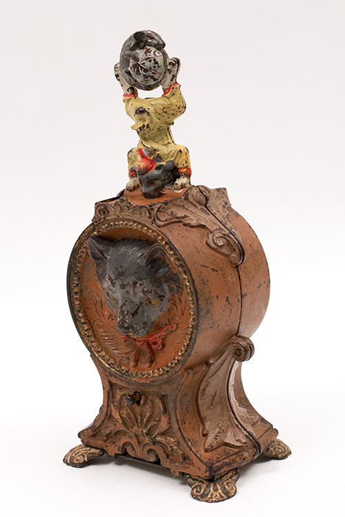 19th Century Antique Cat and Mouse Mechanical Bank