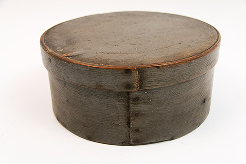 Original Gray Painted Pantry Box 19th Century New England Country Primitive Antiques For Sale