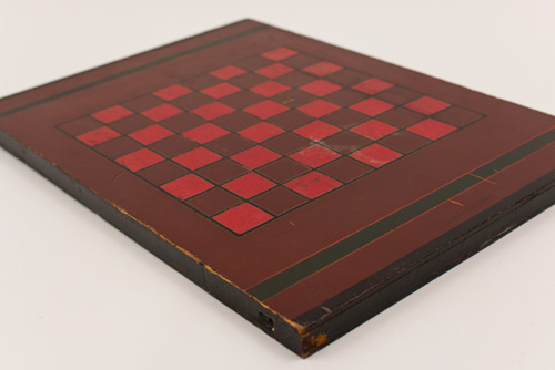 Antique American Five Color Painted Game Board Red Black Gold Green Brown