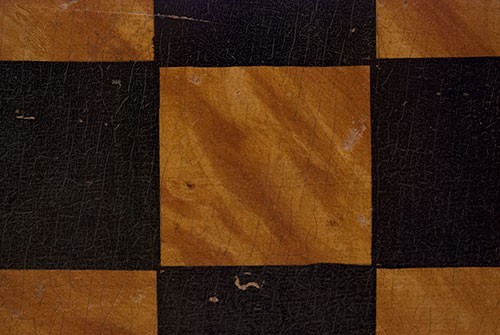 Antique Gameboard Game Board Paint Decorated Double Sided Parcheesi Checkers Original Surface Early 20th Century