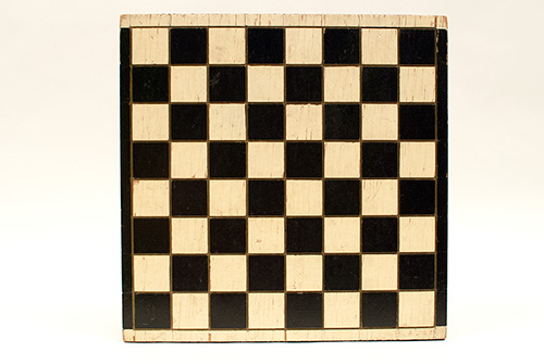Jazz Age Art Deco Antique American Folk Art Gameboard in Original Paint Decorated Surface