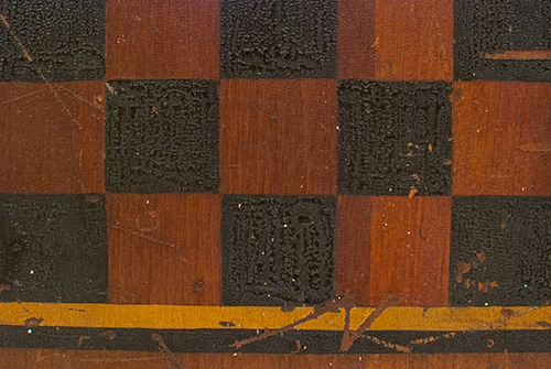 Antique American Gameboard with Mustard and Black Borders