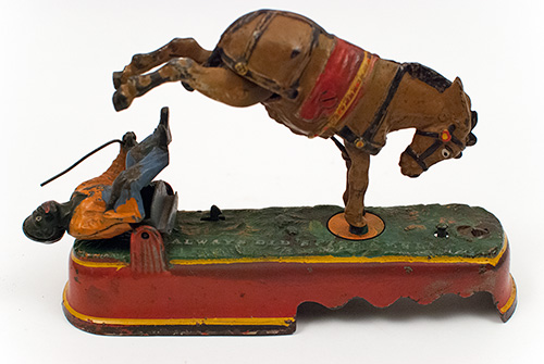 Antique I Always Did 'Spise a Mule Mechanical Bank J E Stevens Company For Sale