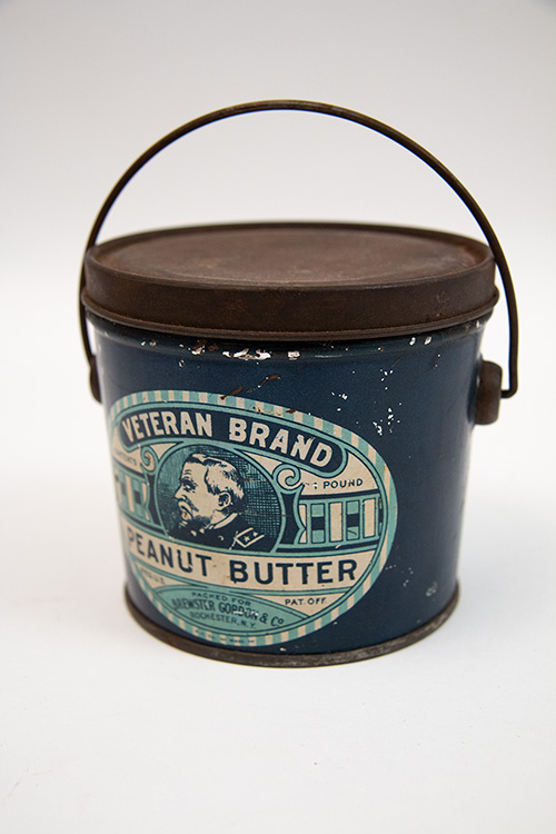 Veteran Brand Peanut Butter Pail Civil War