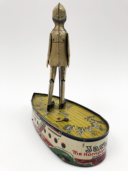 Antique Tin Windup Toy Jackee The Hornpipe Dancer Trademark Patents Applied for The Ferdinand Strauss Corp. New York, N.Y. For Sale