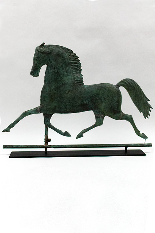 19th Century Harris and Company Blackhawk Running Horse Weathervane For Sale