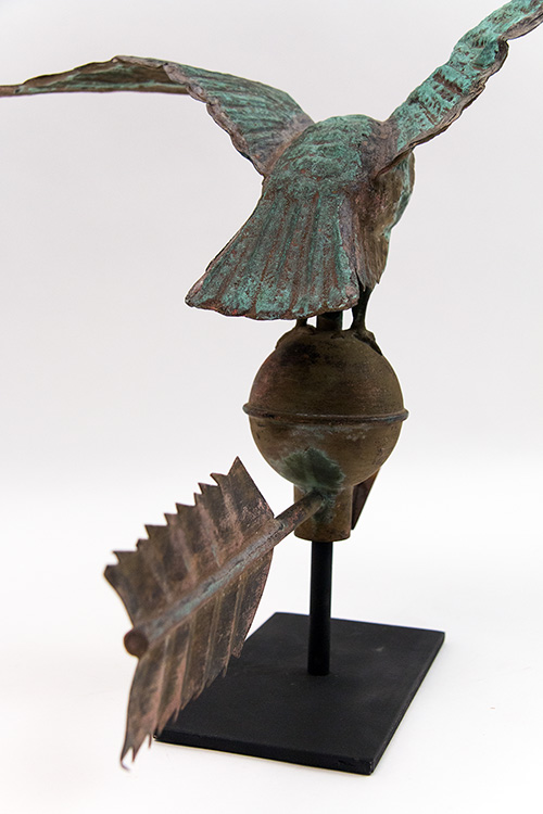 19th Century Antique American Diminutive Eagle Weathervane For Sale