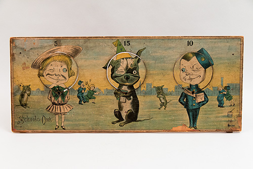 Buster Brown R Bliss School's Out Paper Litho Target Game For Sale from Z and K Antiques