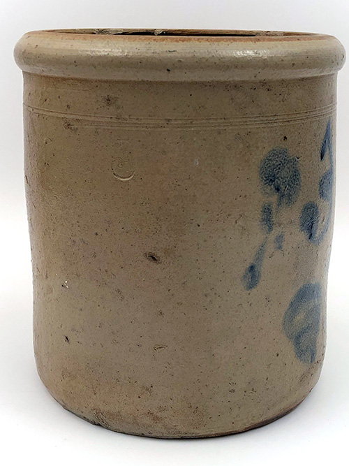 Indiana Antique Stoneware Blue Decorated 3 gallon Crock by Upton Stuckey Stucky