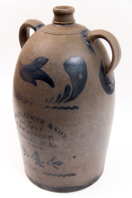 Wheeling WV Antique American Stoneware Merchant Jug S. Horkheimer and Son