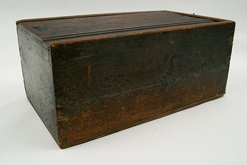 Early American Antique Painted Candle Box For Sale: Large Country Primitive Antique Green Reeded Lid Unusual Pennsylvania Dutch 19th Century