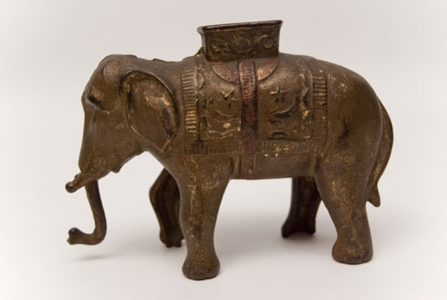 Elephant Swings Trunk  Mechanical Bank