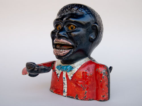 Jolly Nigger Cast Iron Mechanical Bank For Sale