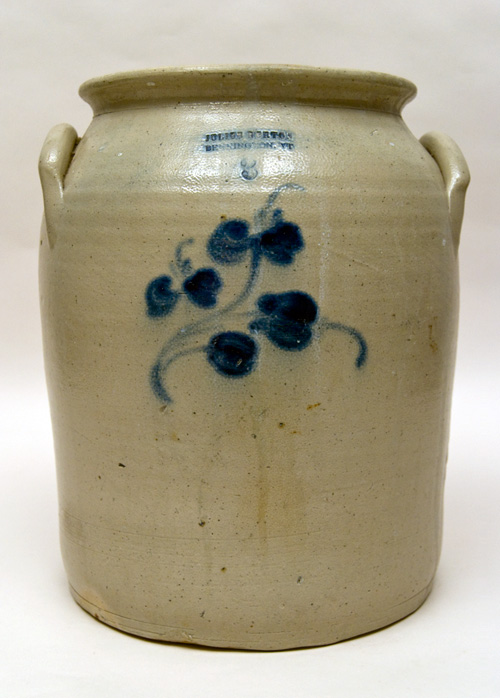 Julius Norton Bennington Vermont 3 Gallon Blue Decorated