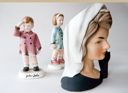 Rare 1964 Inarco Jackie Kennedy in Mourning Head Vase For Sale