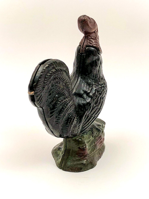 Keyser Rex Cast Iron Mechin Bank Rooster 19th Century Americana Toys for Sale