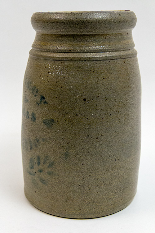 McCarthy and Bayless Louisville Kentucky Blue Decorated Stoneware Wax Sealer