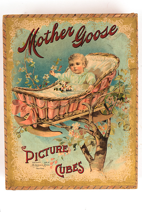 Antique Game 19th Century McLoughlin Brothers Mother Goose Picture Cubes