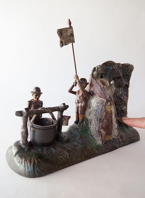 Boy Scout Antique Mechanical Cast Iron Bank