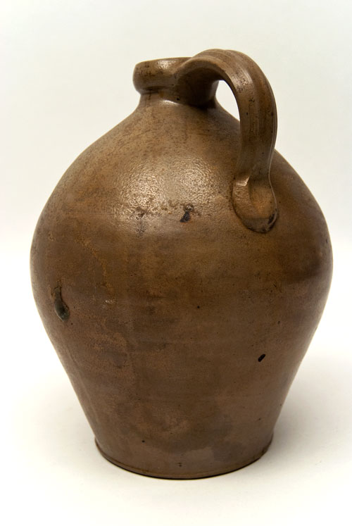Ovoid One Gallon Jug with Cobalt Floral Decoration Possibly D.P. Shenfelder, Reading PA
