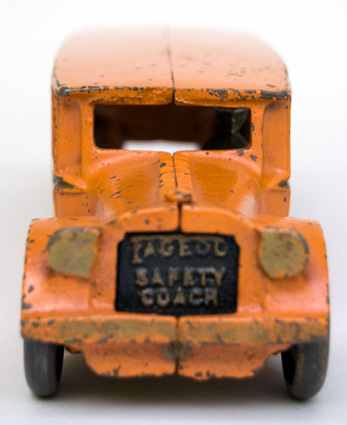 Antique Cast Iron Arcade Fageol Safety Coach