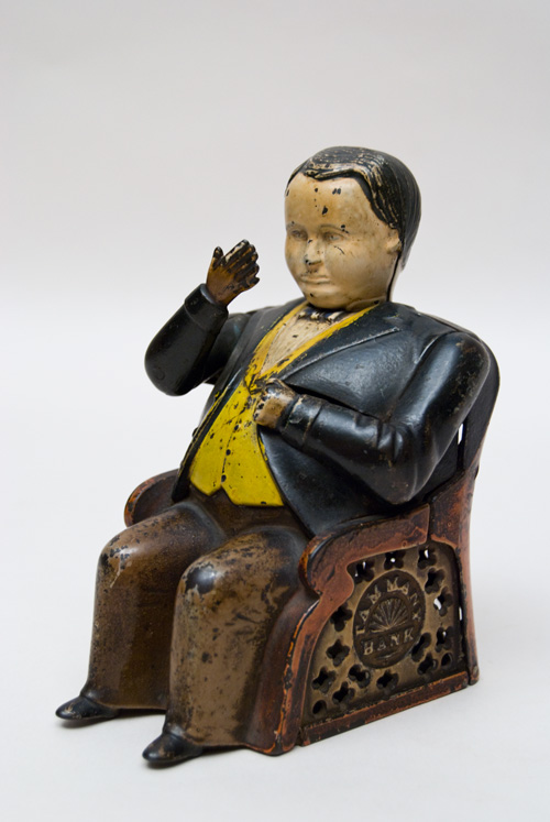 Tammany Antique Cast Iron Mechanical Bank Original Paint 1800s American For Sale Hall Boss Tweed