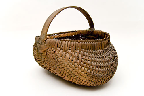 Antique Buttocks Basket: American, Late 19th Century Basket For Sale