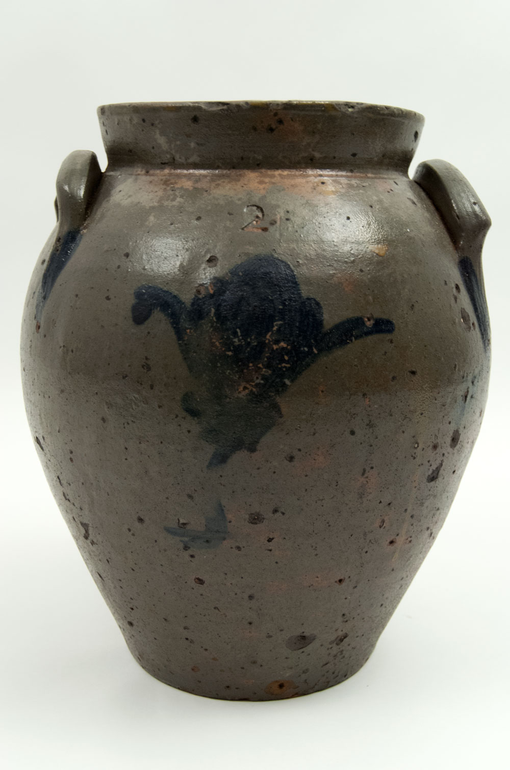 Early Ohio Two Gallon Ovoid Salt Glazed Storage Jarcontact us» | about us»