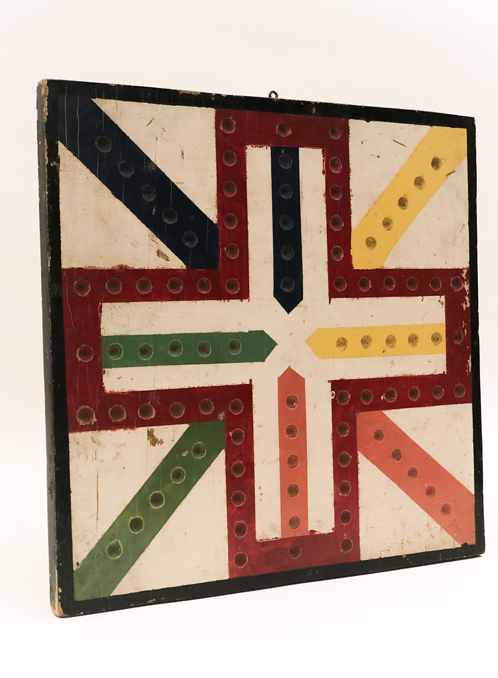 Antique Paint Decorated Wahoo Gameboard For Sale From Z and K Antiques