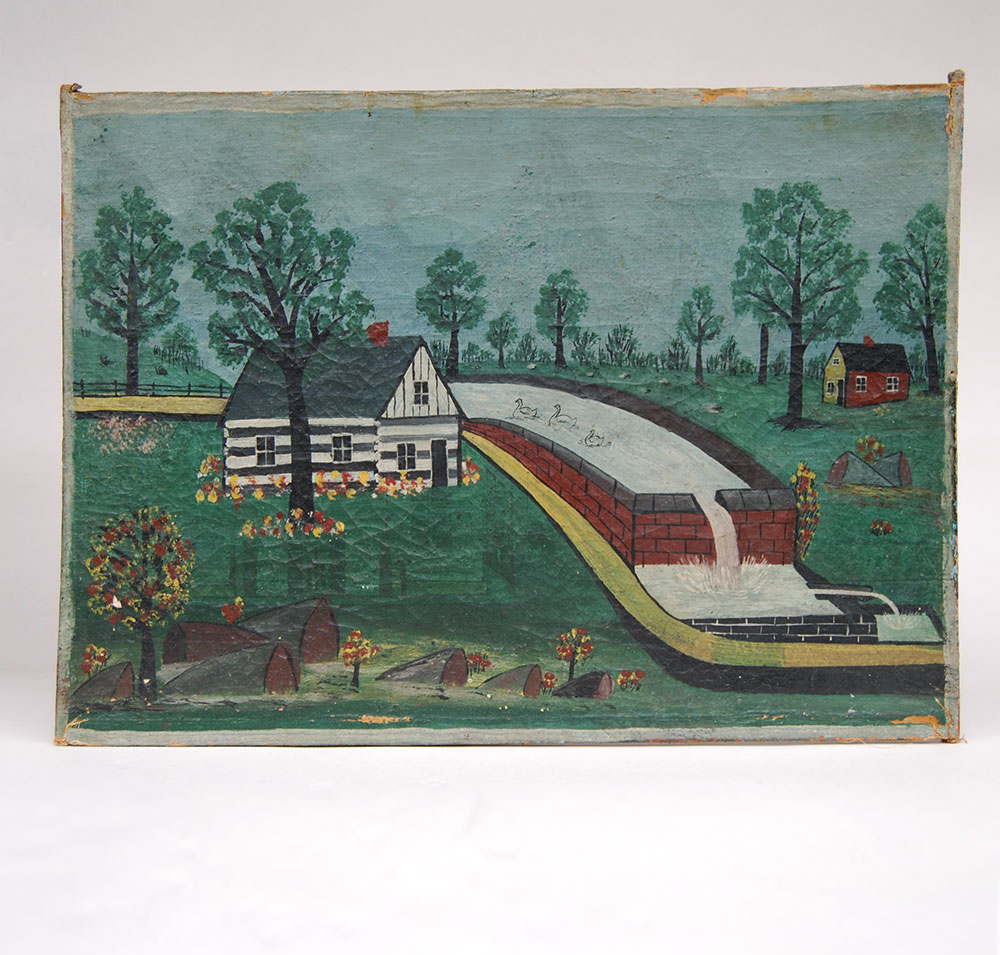 American Primitive or Folk Art Style Paintings in Acrylic by Jeff