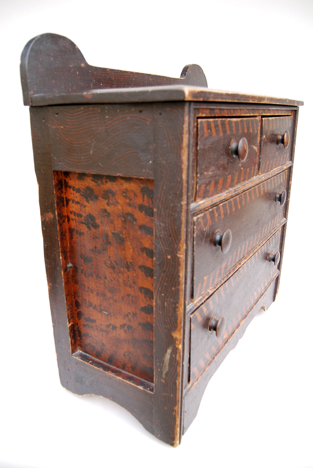 19th Century Folk Art Paint Decorated Childs Chest | New England Antique  American Furniture - Century Folk Art Paint Decorated Childs Chest New England Antique