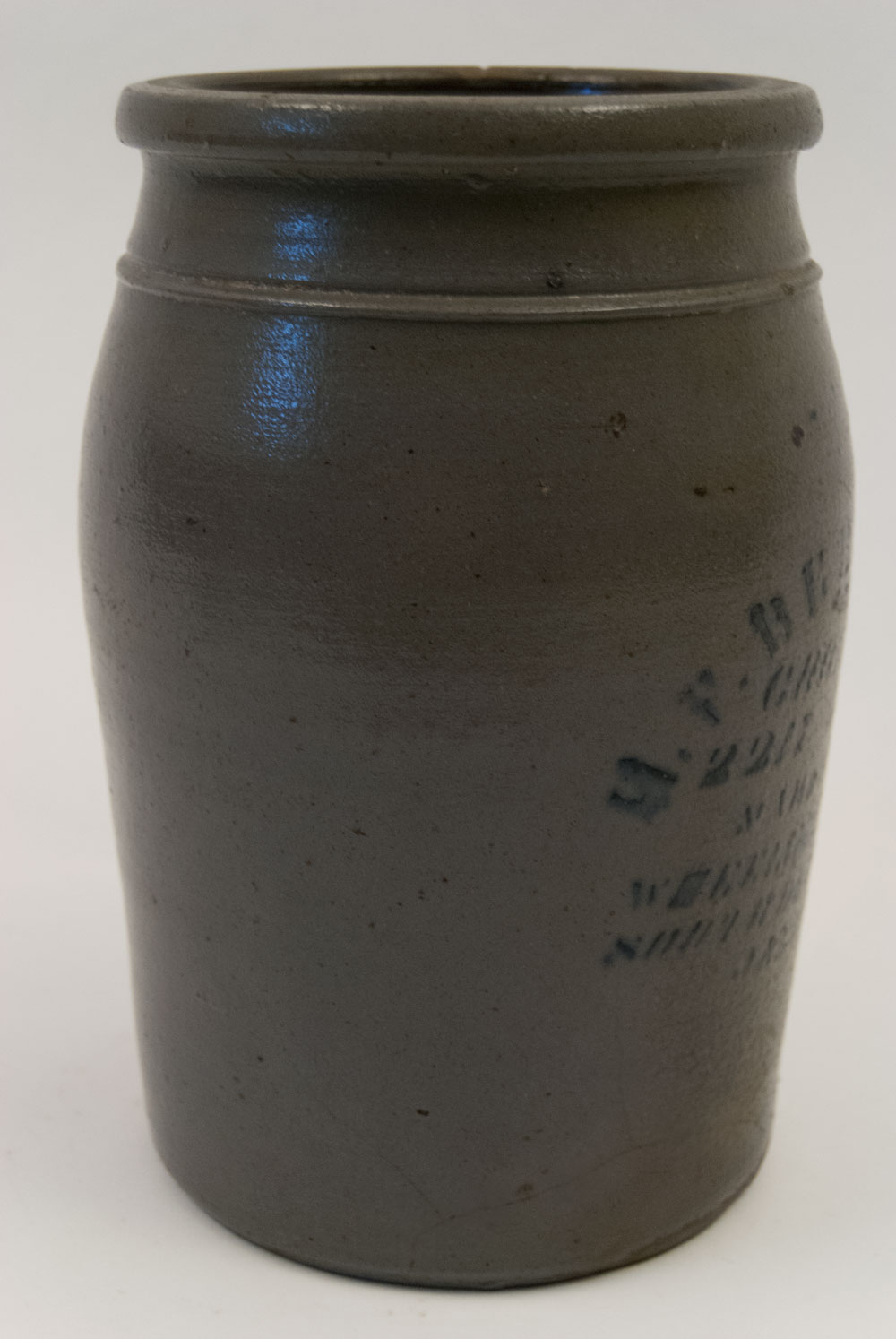 Bill Of Sale Illinois >> Antique Merchant Jar Blue Decorated Stoneware Berhens ...