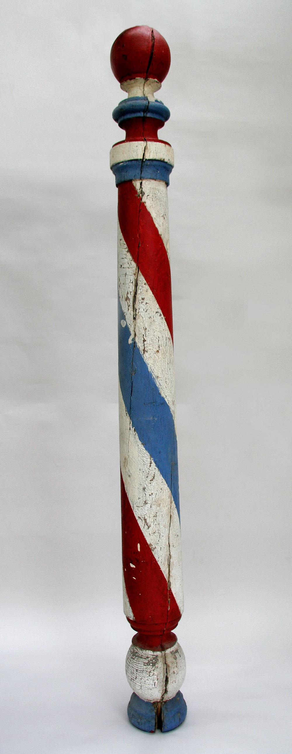 vintage wooden barber pole   eBay