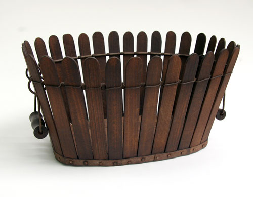Antique Shaker Picket Fence Basket